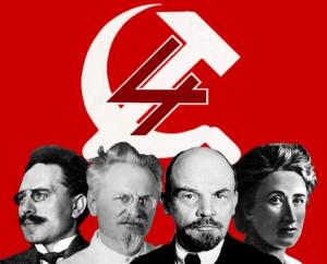 Os quatro prognantes da fundação da terceira internacional, em oposição ao nacionalismo da segunda internacional. E Trotsky que sobreviveu para ver a degeneração da terceira internacional e propositor de uma quarta internacional.